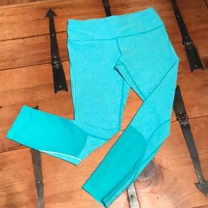 MPG teal workout leggings size small